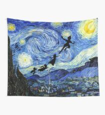 Peter Pan Starry Night Wall Tapestry