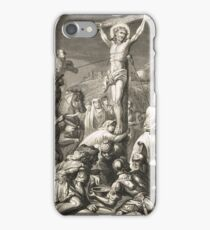 Crucifixion of Christ Engraving 1839 iPhone Case/Skin