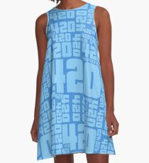 420KMeta DeepSky A-Line Dress