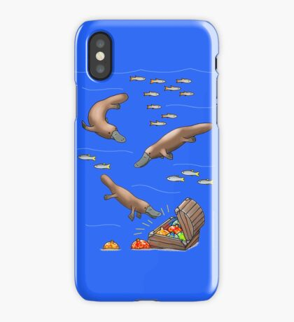 Platypus and Christmas Treasure iPhone Case