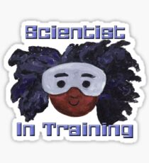 Pegatina Scientist In Training - Versión 1 - Celebrando a las chicas en STEAM