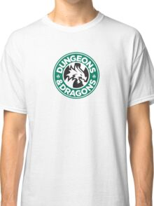 Dungeons & Dragons Starbucks Parody Mashup Classic T-Shirt