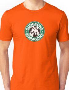 Dungeons & Dragons Starbucks Parody Mashup Unisex T-Shirt