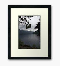 twilight moutains Framed Print
