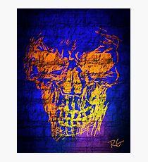 Skull Graffiti  Photographic Print