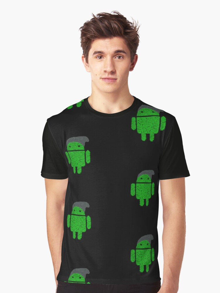 BeanieDroidv1.1 Graphic T-Shirt Front