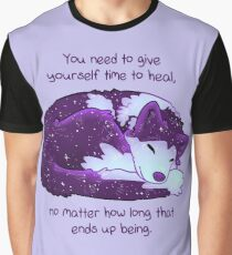 """""""You Need to Give Yourself Time to Heal"""" Galaxy Pup Graphic T-Shirt"""