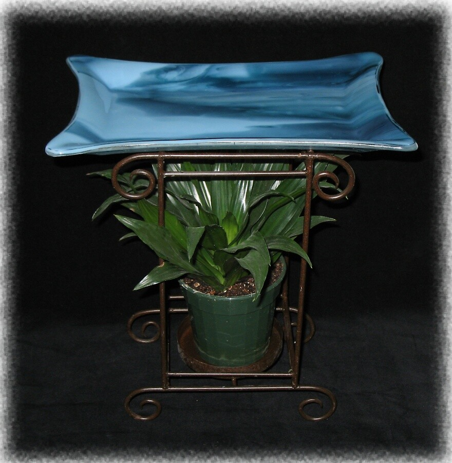 Metal & Glass Plant stand by Kaz Rhoads