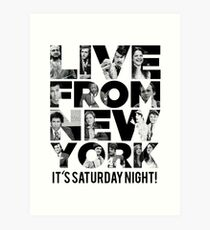 'Live From New York' - Saturday Night Live Early Cast Art Print