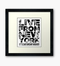 'Live From New York' - Saturday Night Live Early Cast Framed Print