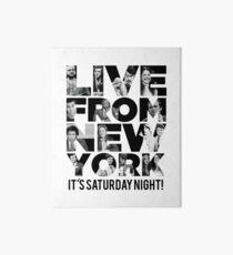 'Live From New York' - Saturday Night Live Early Cast Art Board