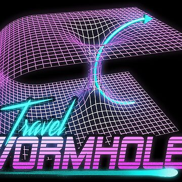 Travel Wormhole - science fiction retro space t-shirt by Intune