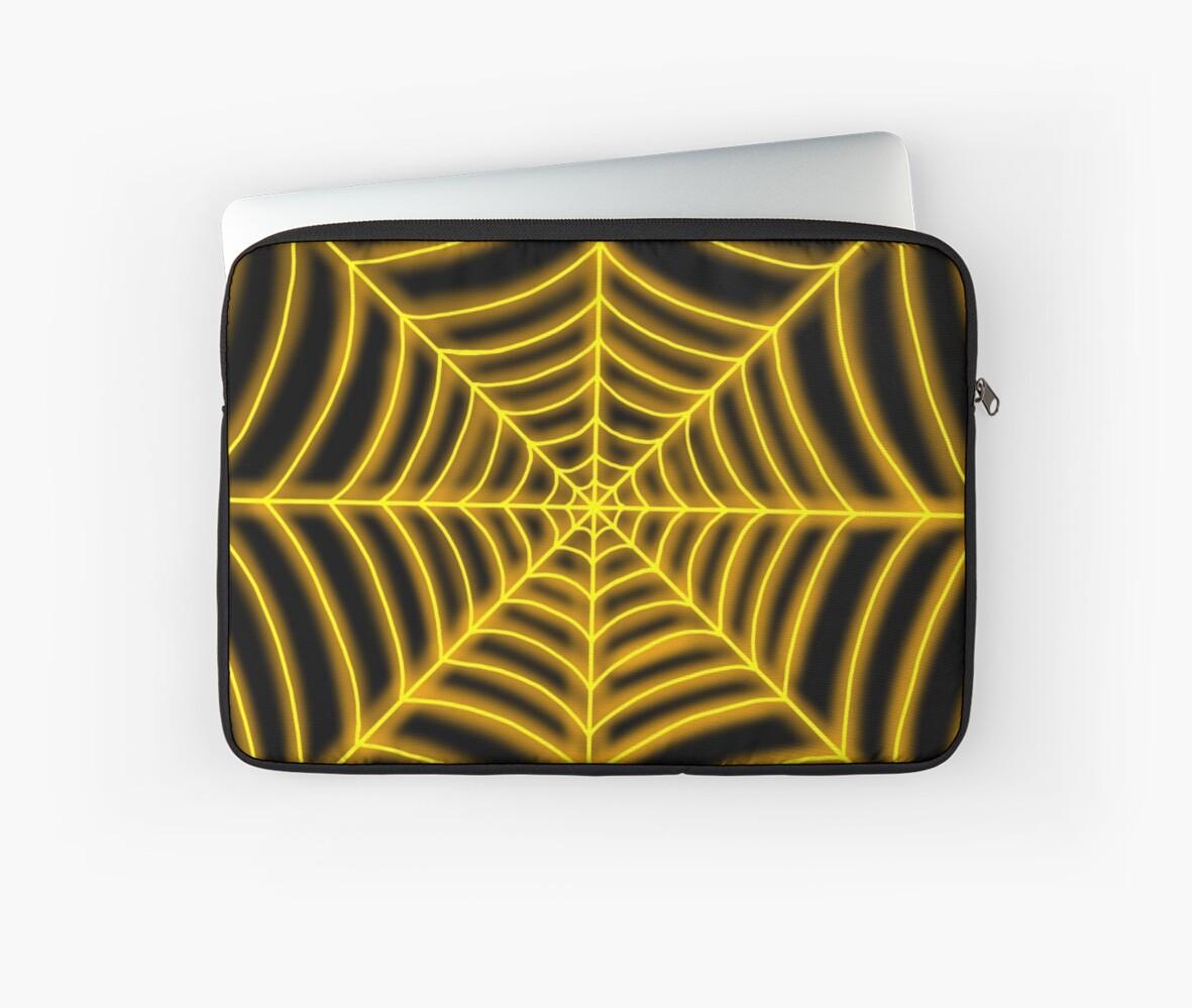 spider web (orange glowing) by Hardsara