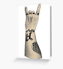 Rock Hand Greeting Card