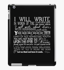 Words of Fire iPad Case/Skin