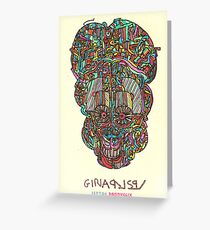 acid skull Greeting Card