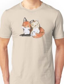 FOX AND OWL BUDDIES Unisex T-Shirt