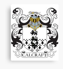 Calcraft Coat of Arms Canvas Print