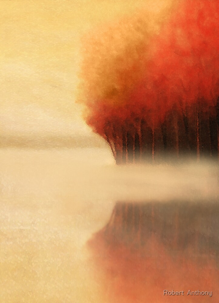 Red River Trees by Robert  Anthony