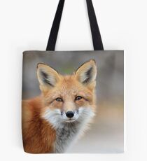 Red Fox Face Tote Bag