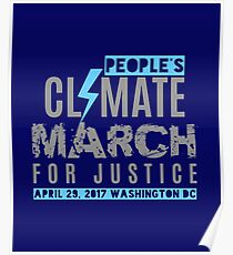 People's Climate March for Justice Washington DC  Poster