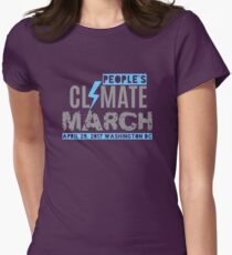 Climate March Washington DC  Womens Fitted T-Shirt