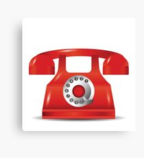 old red phone Canvas Print