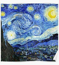 The Starry Night - Vincent van Gogh Poster