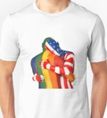 Rainbow + USA flags T-Shirt
