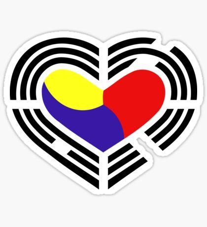 Korean Patriot Flag Series (Heart) Sticker