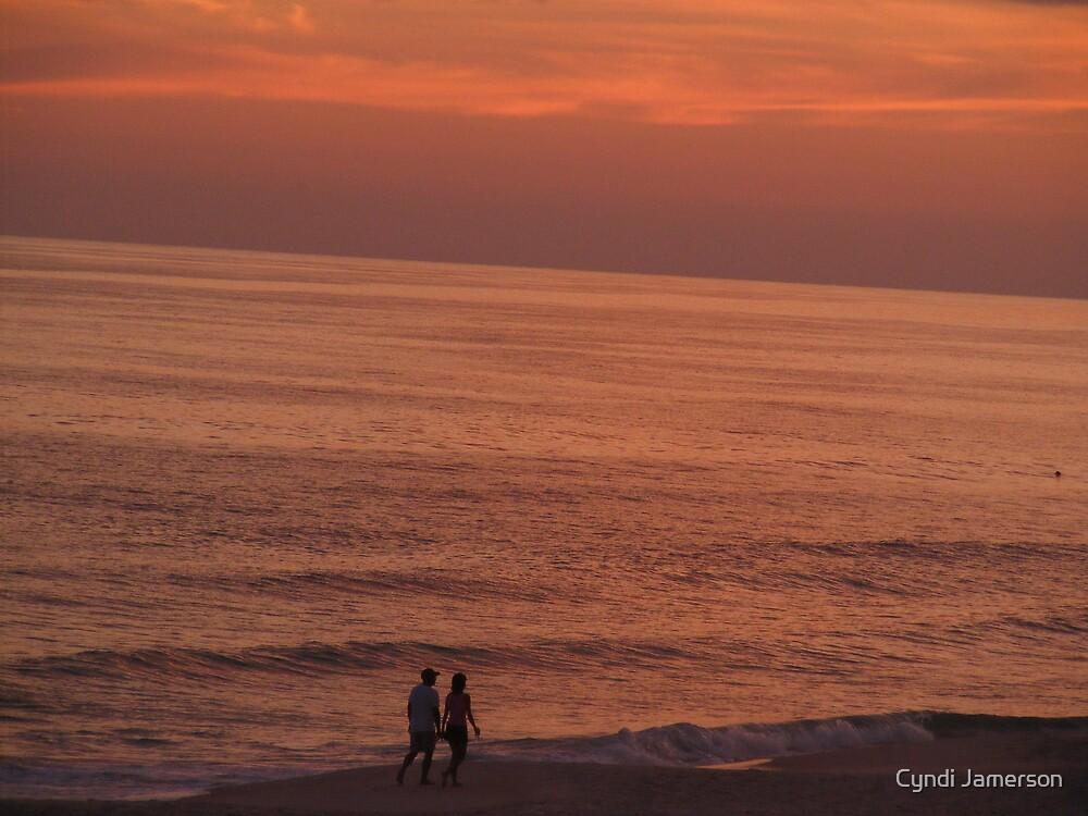 LOVERS AT SUNSET by Cyndi Jamerson