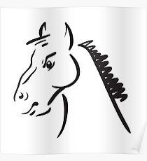 an horse on white background Poster