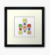 abstract square info graphic business elements Framed Print