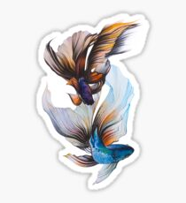 Veiltail Goldfish Pattern Sticker