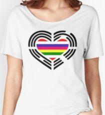 Korean Patriot Flag Series (Heart) Relaxed Fit T-Shirt