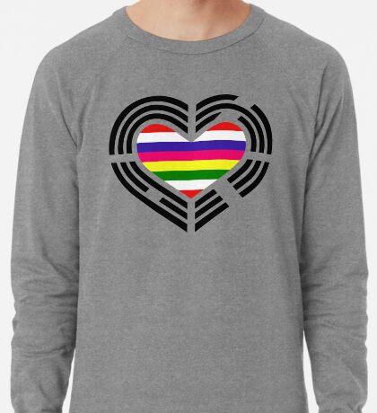 Korean Patriot Flag Series (Heart) Lightweight Sweatshirt