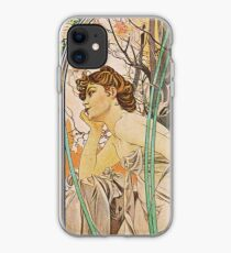 Alphonse Mucha - Evening Reverie iPhone Case
