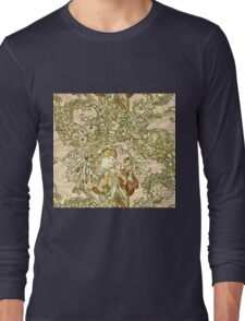 Alphonse Mucha - Lady With Daisy 1898  Long Sleeve T-Shirt