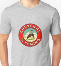 Cheyenne Wyoming Frontier Days Vintage Travel Decal T-Shirt