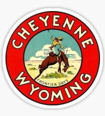 Cheyenne Wyoming Frontier Days Vintage Travel Decal Sticker