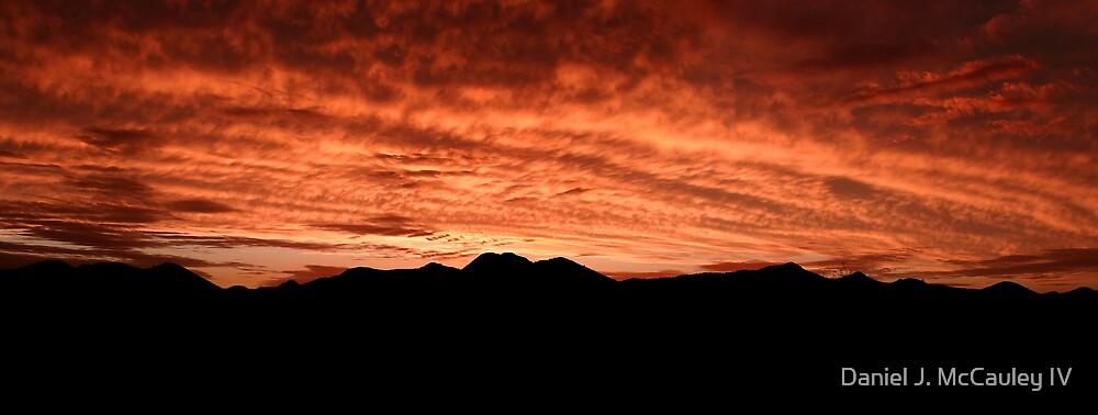Desert Sunset In Red by Daniel J. McCauley IV