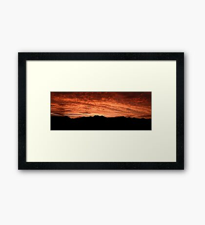 Desert Sunset In Red Framed Print