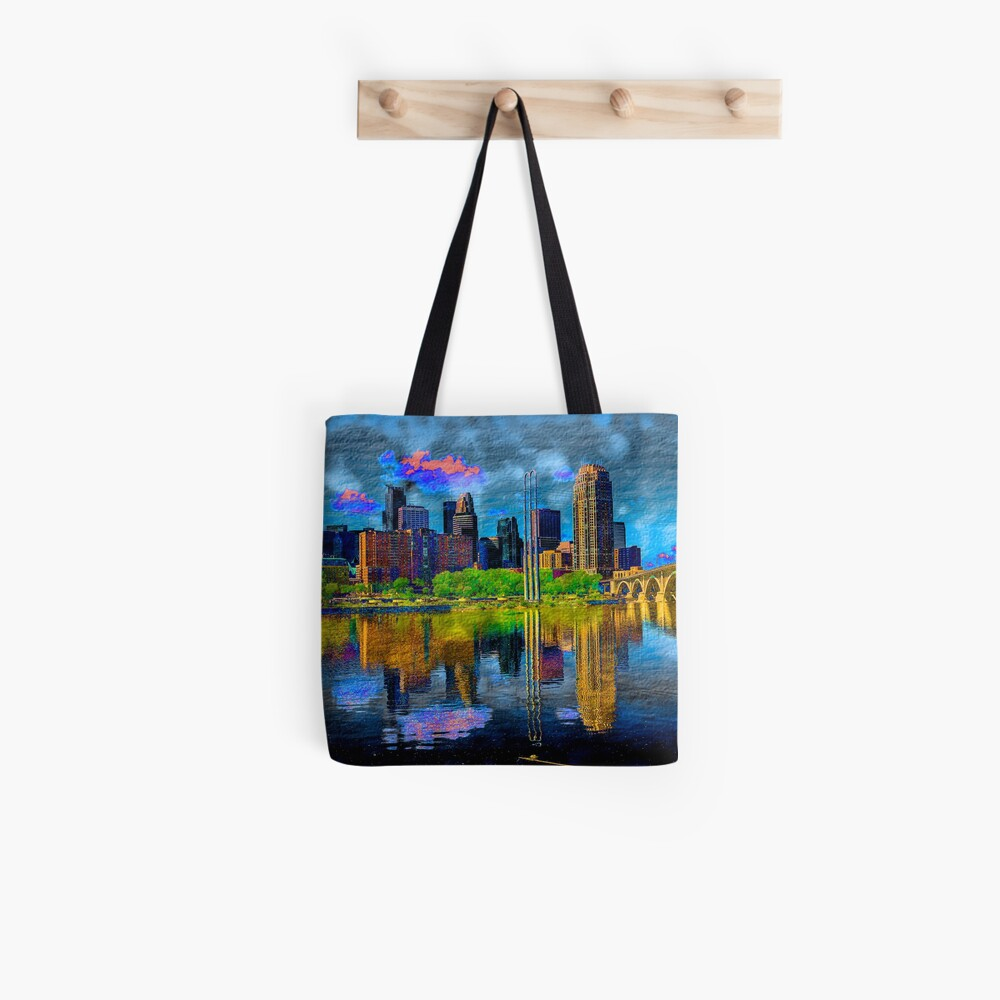 Minneapolis Skyline - Blue Tote Bag