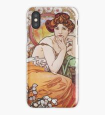 Alphonse Mucha - Topaz iPhone Case/Skin