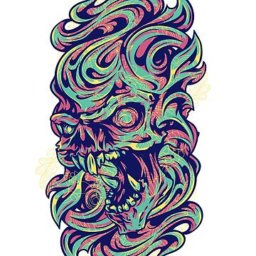 Groovy Skull by m3kail