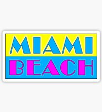 MIAMI BEACH FLORIDA RETRO 80'S STYLE BEACH SURFING OCEAN VACATION Sticker
