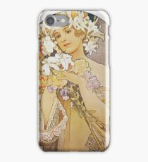 Alphonse Mucha - Flowers iPhone Case/Skin