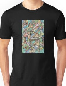Flying Fishes, Guitars & Piano Unisex T-Shirt