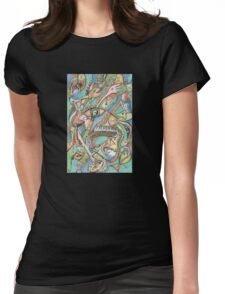 Flying Fishes, Guitars & Piano Womens Fitted T-Shirt