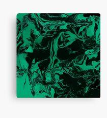 Emerald marble texture. Canvas Print
